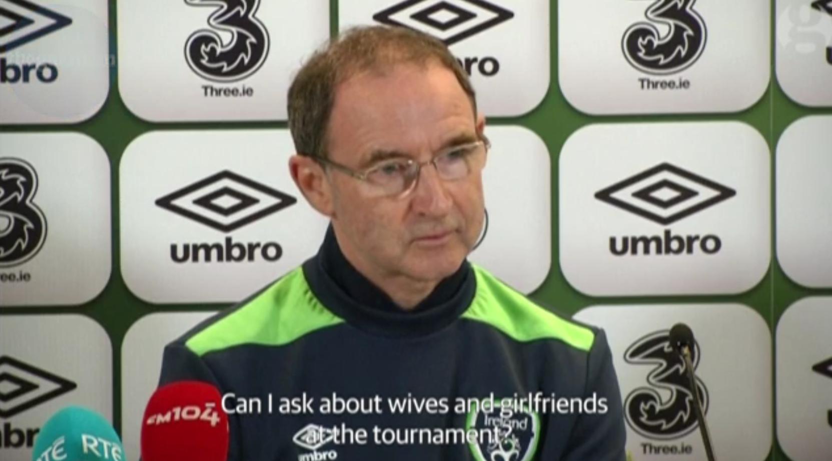 Den irske landstræner, Martin O'Neill, ønsker ikke at se grimme kærester i Irlands lejr under sommerens EM.