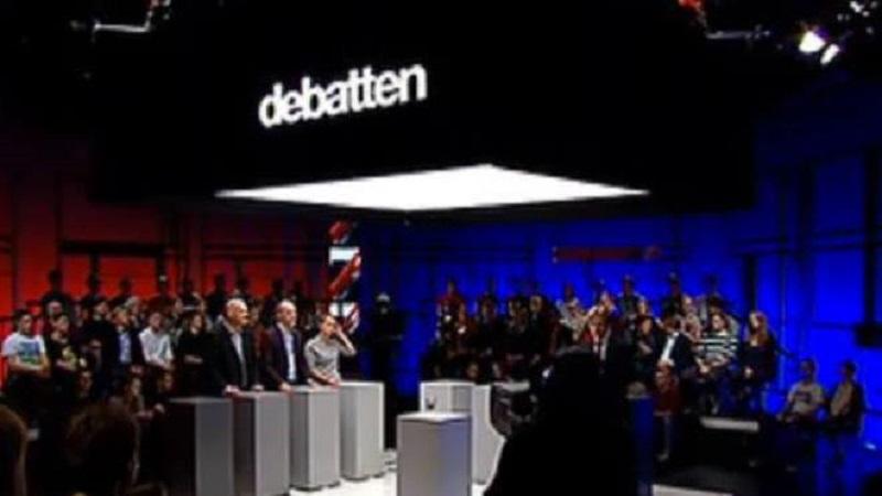Bølgerne går ofte højt, når debattørerne er uenige i Debattens studie. Billede: Arkivfoto.
