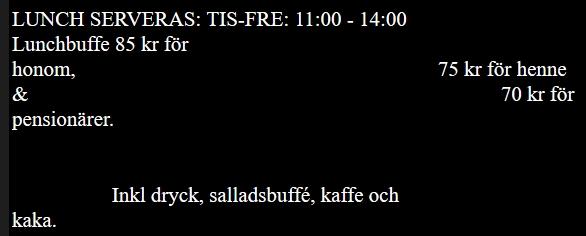 Mænd betaler 10 kroner mere end kvinder for frokostbuffeten på restaurant Nebbebodagården i Olofström.