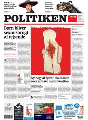 Politikens forside fra i dag, som har fået blandt andre Rasmus Brygger til at reagere.