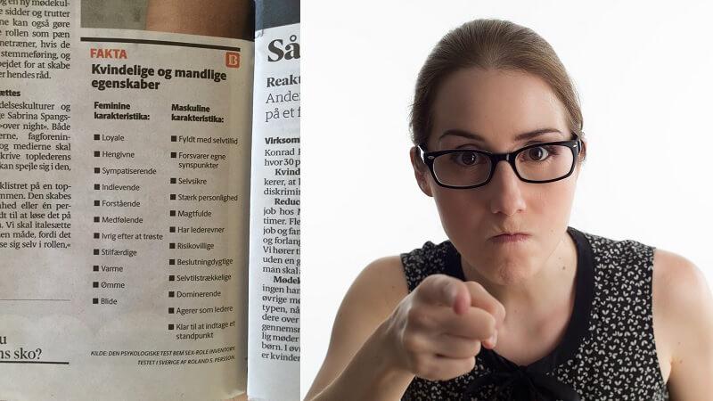 Berlingske kan være på vej ud i nyt ligestillingsuvejr, efter avisen har bragt en »faktaboks« med beskrivelser af mandlige og kvindelige egenskaber. Billede: Sociale medier/arkivfoto.