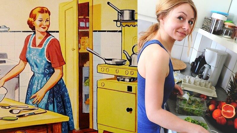Nutidens kvinder sætter pris på at være husmødre, viser britisk undersøgelse. Billede: Arkivfotos.