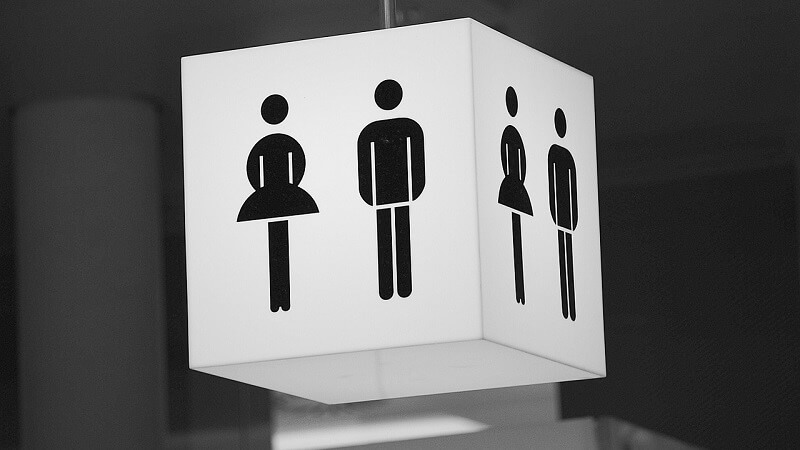 Fra næste år bliver herre- og dametoiletter ulovlige i New York. Billede: Arkivfoto.