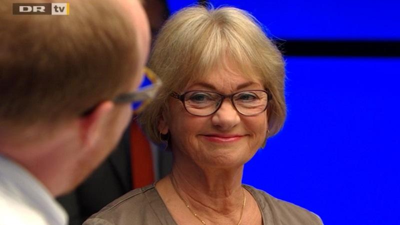 Pia Kjærsgaard var i sit es i aftenens udgave af Debatten. Det gik ikke mindst ud over Alternatives Rasmus Nordqvist. Billede: Screenshot, dr.dk/tv.