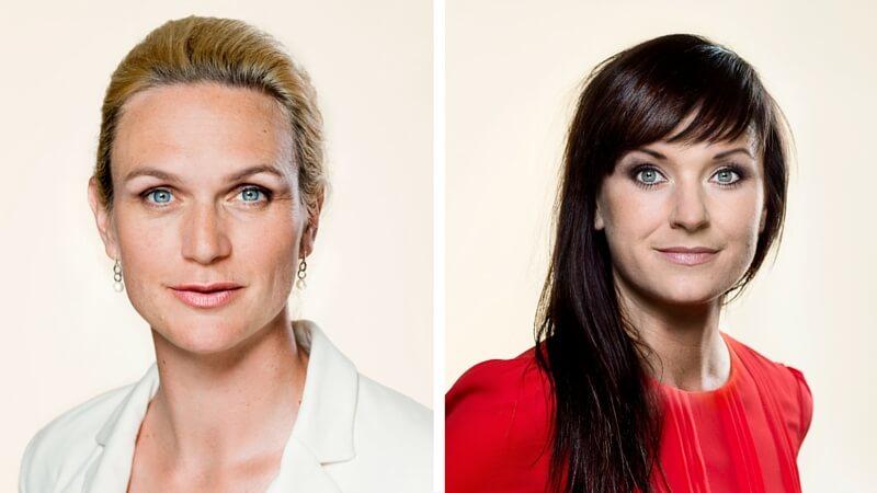 Liberal Alliances ligestillingsordfører, Merete Riisager (tv.), kalder drenges manglende beskyttelse mod omskæring for et ligestillingsproblem. Sundheds- og ældreminister Sophie Løhde (th.) er ikke enig. Billede: ft.dk.
