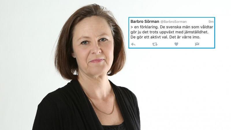 Den svenske politiker Barbro Sörman. Billede: Vänsterpartiet.