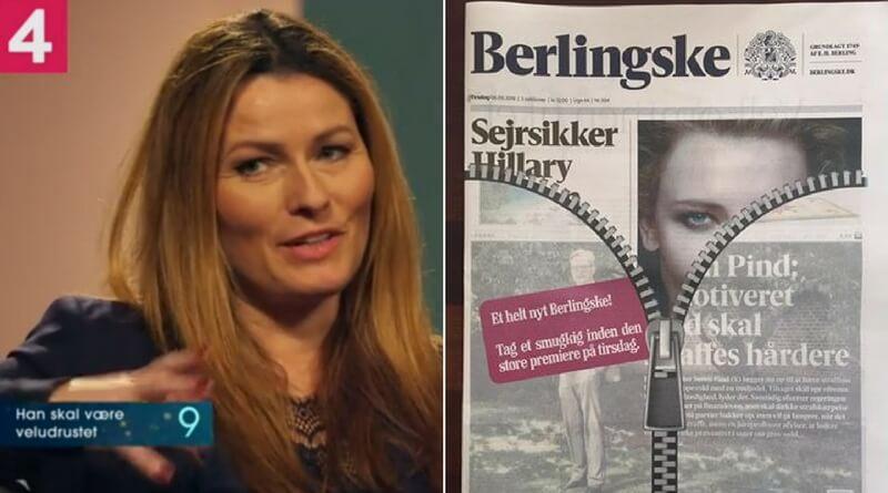 44-årige Anne Sophia Hermansen er i dag tiltrådt som ny debatredaktør på Berlingske. Hermansen udtaler i den forbindelse, at der skal flere kvinder ind i samfundsdebatten. Billede: Promovideo, Kanal4/Berlingske.
