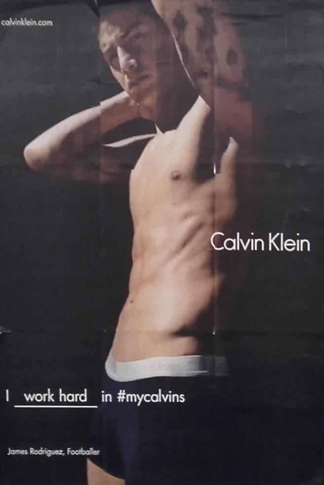 Reklame for Calvin Klein. Model James Rodriguez.