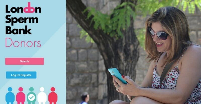 Swipe, vælg, og bestil. Britisk sædbank har lanceret 'Tinder-app' for kvinder, der leder efter donorsæd. Billede: Screenshot fra appen/arkivfoto.