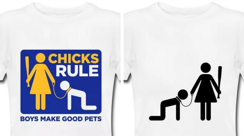 T-shirts som disse vil fortsat kunne købes gennem tøjvirksomheden Spreadshirt. De er ikke i strid med virksomhedens værdier og etiske retningslinjer. Billede: Spreadshirt.co.uk.