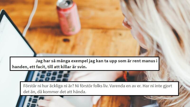 Svenske Anna Lundkvist, 19, skriver »åbent hadebrev« til alle drenge og mænd. Citaterne er fra brevet. Billede: Arkivfoto.