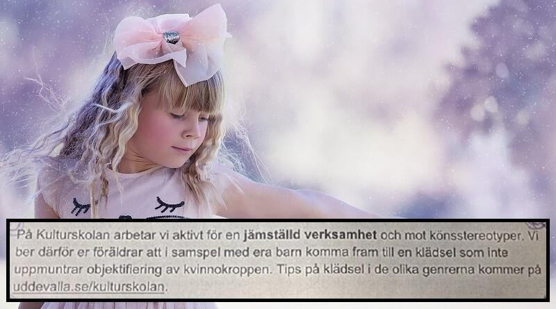Sverige: Piger på danseskolen påUddevalla kulturskola må ikke bære tøj, som »opmuntrer til objektivisering af kvindekroppen«. Reglen gælder for piger på fire år op opefter. Billede: Arkivfoto/privat/P4 Sverige.