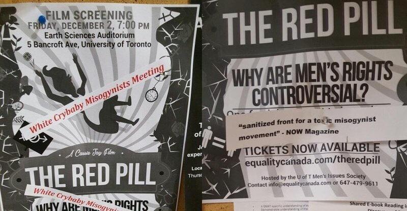 Feministiske aktivister bekæmper dokumentarfilmen The Red Pill i Australien og Canada. Billede: Cassie Jaye/Twitter.