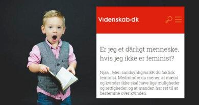 Videnskab.dk: Kun feminister går ind for ligestilling